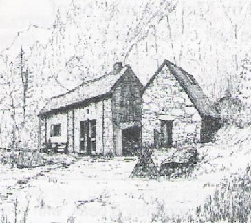 A sketch of the club hut